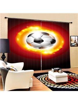 Sparkling Soccer Printing 3D Curtain