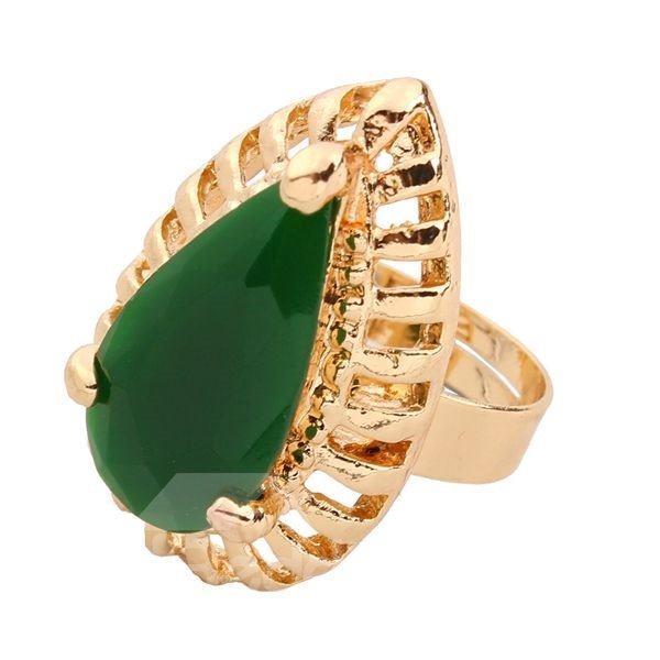 Luxury Emerald Diamante Stone Alloy Jewelry Sets