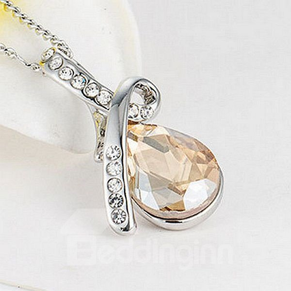 Resplendent Six Colors for Choose Gemstone Pendant Necklace