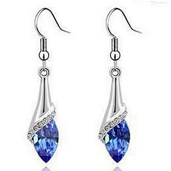 Shining Five Colors for Choose Crystal Pendant Earrings