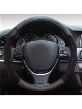 Hand On Both Sides With Attractive Anti-Slip Design Leather Car Steering Wheel Cover