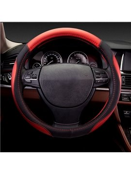 Very Cool Bright Contrast Color Sporty Style Beautiful Design Leather Car Steering Wheel Cover