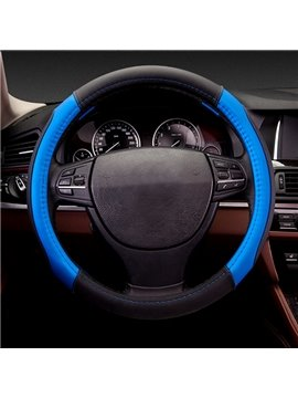 Special Sport Design Fashion Color Good Non-Slip Type Leather Car Steering Wheel Cover