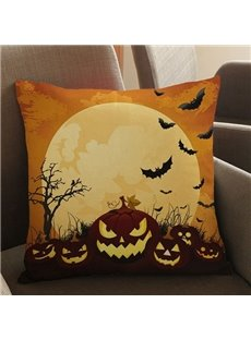 Creative Halloween Pumpkin Print Square Throw Pillow Case
