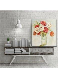 Decorative Flower Vase on Desktop Pattern for Wall Decoration None Framed Oil Painting
