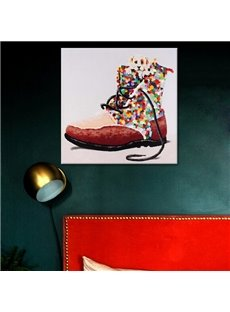 Creative Design Colorful Shoe Pattern Canvas Stretches None Framed Oil Painting