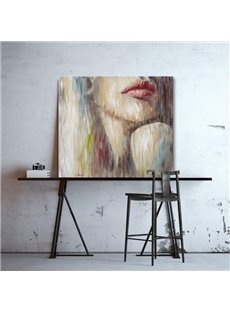 Charming Beautiful Girl Pattern Canvas Stretched None Framed Oil Painting