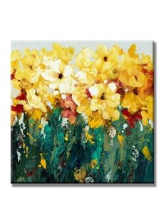 Gorgeous Handmade Flowers Pattern Ready to Hang None Framed Oil Painting