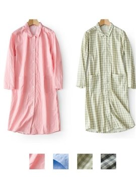 Simple Solid Color Design Beautiful And Comfortable Cotton Women Lingerie Pajamas