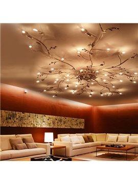 Individual Design Iron Electroplated Tree Branch Shape Personal Customization LED Lights Flush Mount