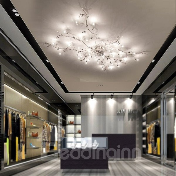 39.37 in. x 19.69 in. Iron Electroplated Tree Branch Customization LED Lights Flush Mount