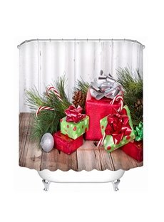 Christmas Gifts under the Tree Printing Christmas Theme 3D Shower Curtain