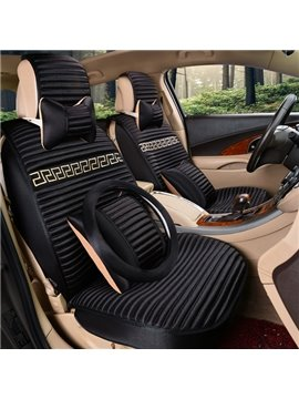 Creative Fashion Crease Design With Weaving Pattern Process Univeral Car Seat Cover