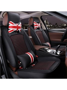 Popular Union Jack Style Durable PVC Leather Material Universal Car Seat Cover