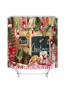 Sweet Christmas Snack Printing Christmas Theme 3D Shower Curtain