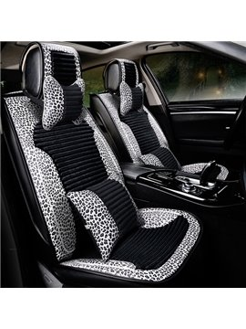 New Fashion Unique Leopard Design PVC Leather Material Universal Car Seat Cover