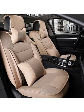 Three-Dimensional Side Protection Design With Fantastic Lines Flax Universal Car Seat Cover