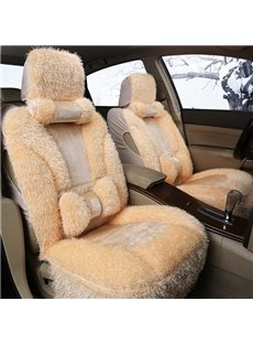 Classic And Soft Fluffy Material Autumn Winter Warm Universal Car Seat Cover