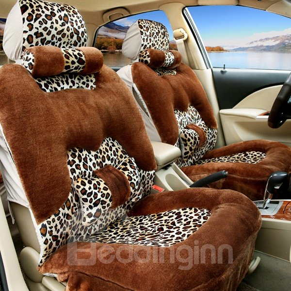 Leopard Skin Pattern Fashion Stylish Universal Car Seat Covers Pic