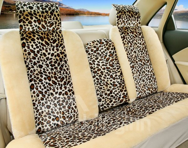 Luxurious Leopard Skin Pattern Fashion And Stylish Universal Car Seat Covers