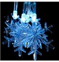 White Beautiful Christmas Decorative Snowflake 16.4 Feet LED String Lights
