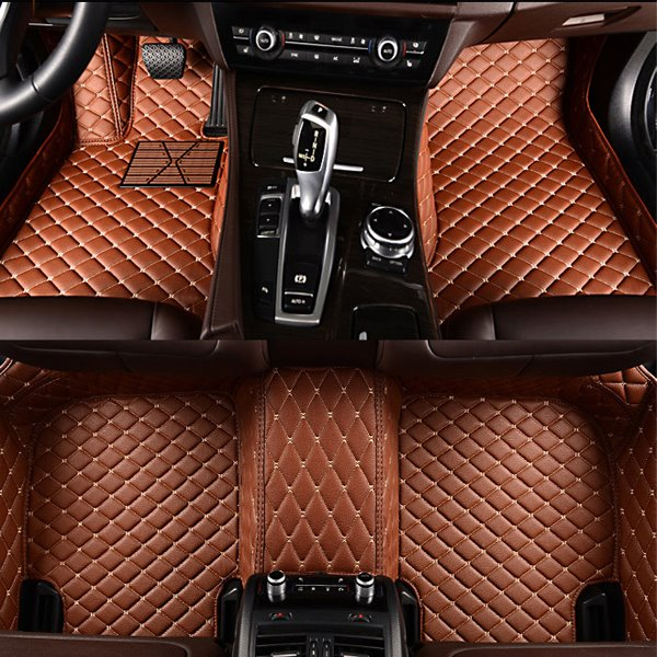 Bright Color Custom-Made Anti-Slipping All Surround Type Leather Car Floor Mats
