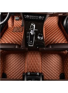 Fashion Bright Color Custom-Made Anti-Skid Stability All Surrounded Type Leather Car Carpet