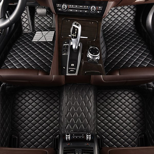 BeddingInn Black Grid Style Brake Pedal Custom-Made Leather Car