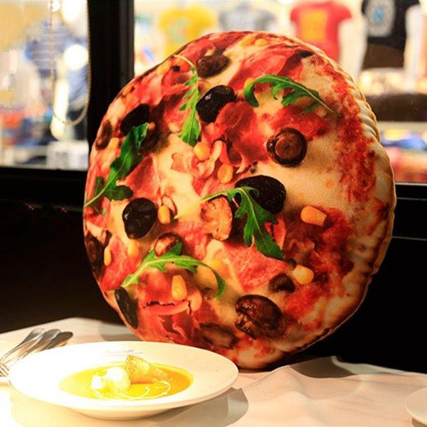 Creative Delicious Pizza Design Plush Throw Pillow