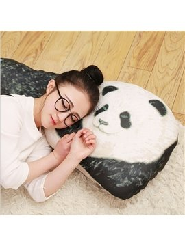 Lovely Panda Design Boyfriend Folding Throw Pillow