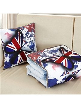 British Style Multifunctional Butterfly Printed Throw Pillow