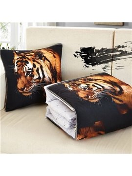 Multifunctional 3D Powerful Tiger Printed Throw Pillow