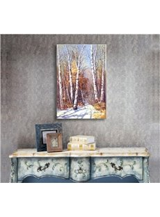 Autumn Birch Forest Scenery Pattern Ready to Hang Framed Wall Art Prints