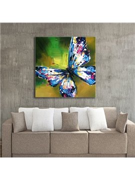 24×24in Colorful Butterfly Pattern Canvas Waterproof and Eco-friendly Framed Prints