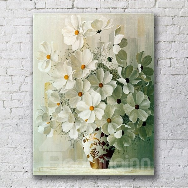 15.6×23.4in Flowers Rectangle Pattern Hanging Canvas Framed Wall ...