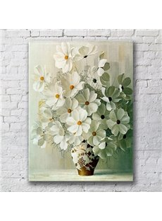 15.6×23.4in Flowers Rectangle Pattern Canvas Framed Wall Prints