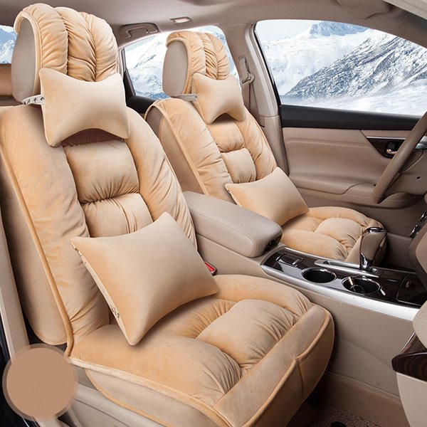 Down Fiber Material Winter Universal Car Seat Cover Warm
