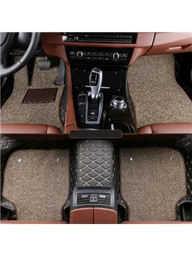 New Double Layer Unique Design Custom-Made Special Dedicated Durable Leather Car Carpet