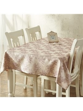 Home Fashion Machine Washable Rectangle Flower Pattern Dining Room Tablecloth