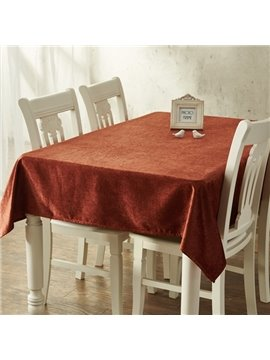 Infinite Home Beauty Cotton Rectangle Pure Color Home Decorative Tablecloth