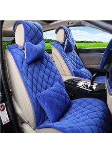 Diamond Pattern Shape With Fashion Pure Color Snap Type Universal Car Seat Cover