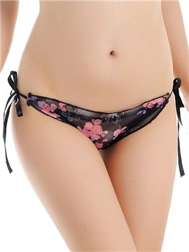 Lace See-Through Floral Super Sexy Attractive Briefs Underwear