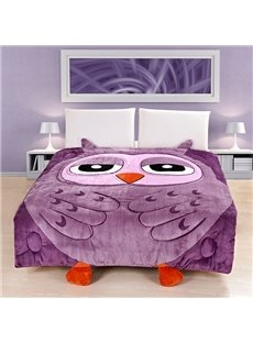 Unique Purple Owl Design Super Soft Quilt