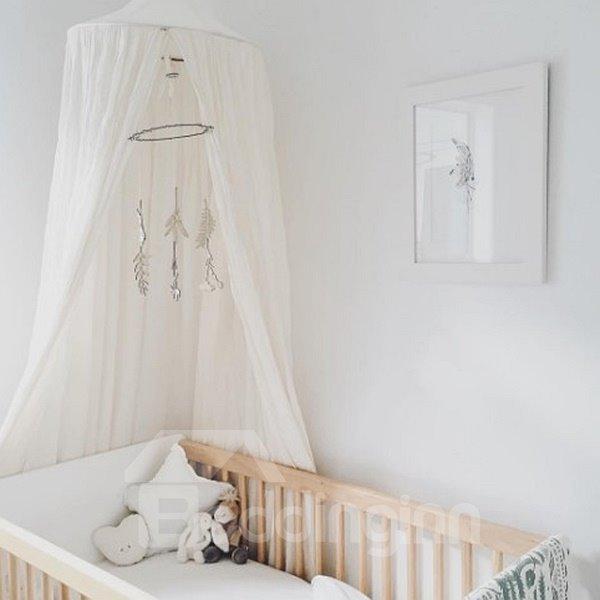 Fantastic Signature Cotton Fabric White Home Deocor Kids Canopy