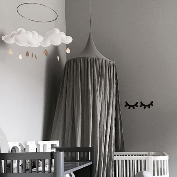 Amazing Signature Cotton Fabric Grey Home Deocor Kids Canopy