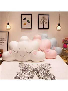 Pretty Lovely Cloud Shape Embroidery Throw Pillow