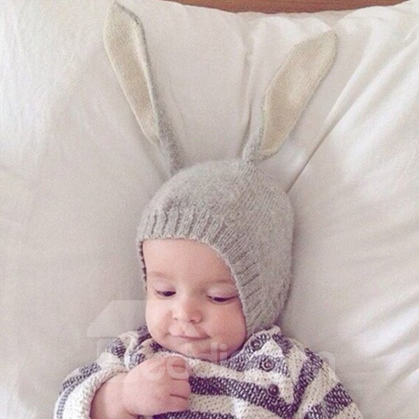 Cute Rabbit Ear Design Three Colors for Choose Baby Hat Photo Prop