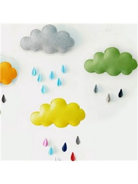 Lovely Cloud with Water Drop Design 3D Wall Decor