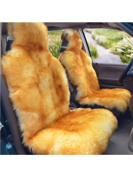 Beautiful Gold Color Mixing Warm Lambswool Material Cost-Effective Universal Car Seat Cover