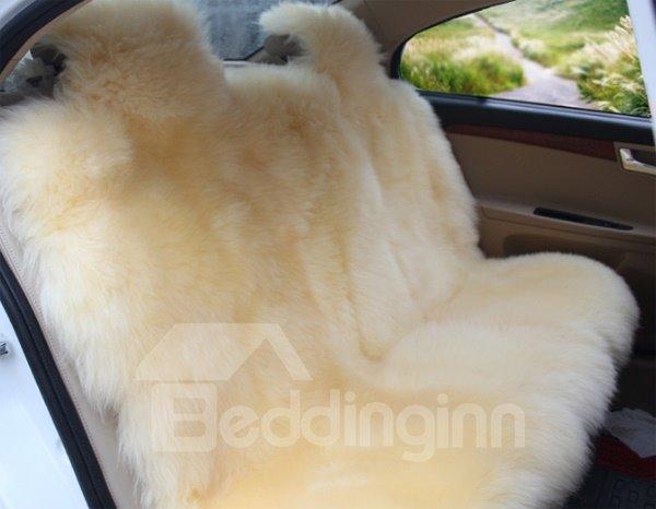 Bright Beige Super Soft Warm Plush Material Custom-Made Dedicated Car Carpet